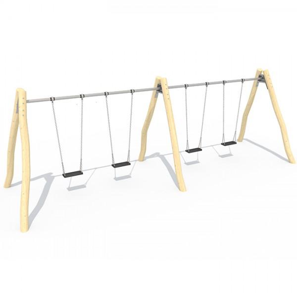 2.4m Double Bay Swing (Steel Top Beam)