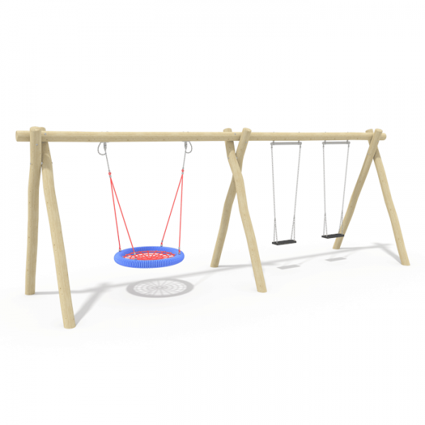 2.4m Double Bay Swing & Nest